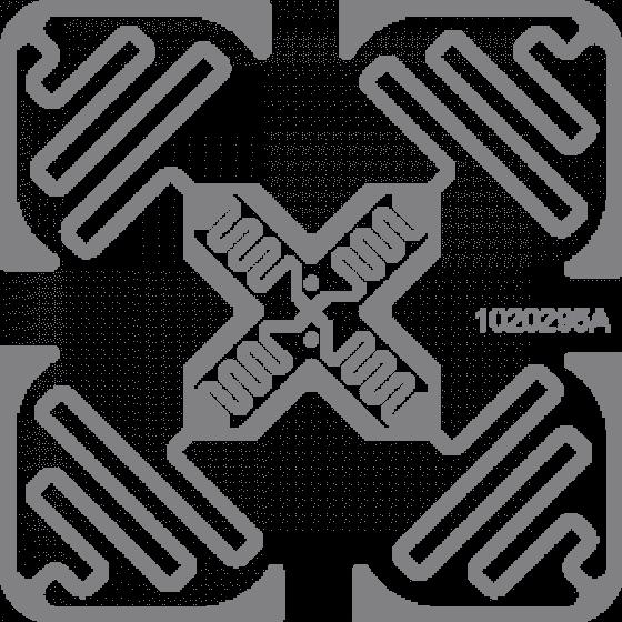 "RFID метка UHF VID M01 ""Cross"", M4D, wet white 50х50мм"